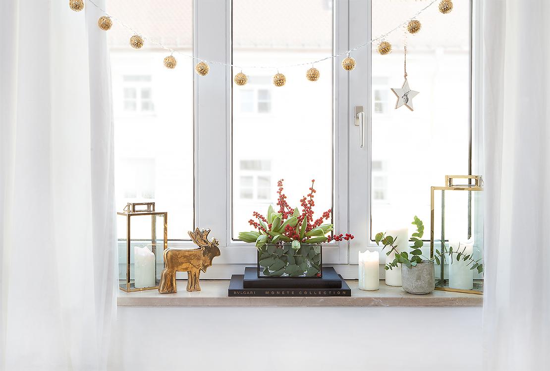 vensterbank versieren kerst
