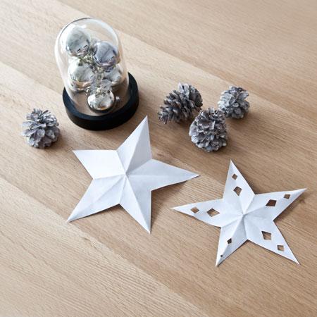 DIY papieren ster voor kinderen