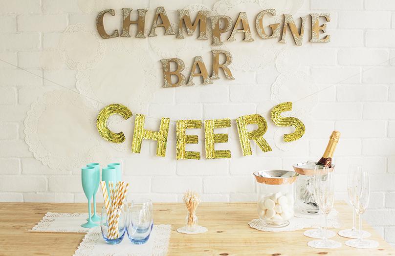 Oud & Nieuw DIY: Champagnebar