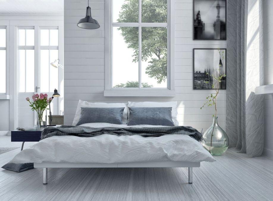 Slaapkamer Grijstinten : Westwing scandi slaapkamer grijstinten