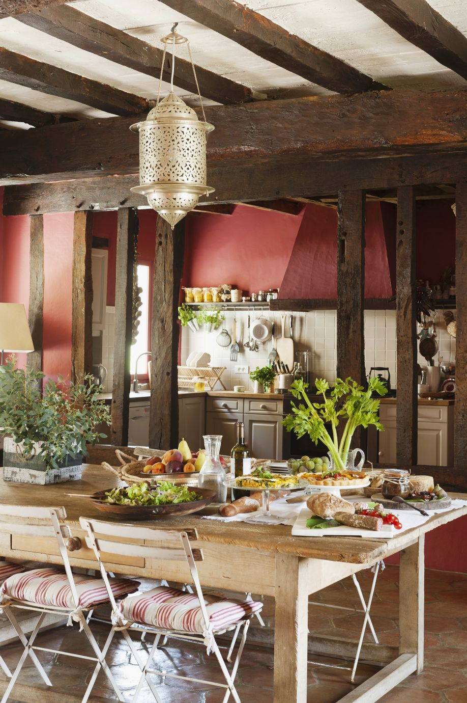meubels landelijke stijl houten keukenmeubels