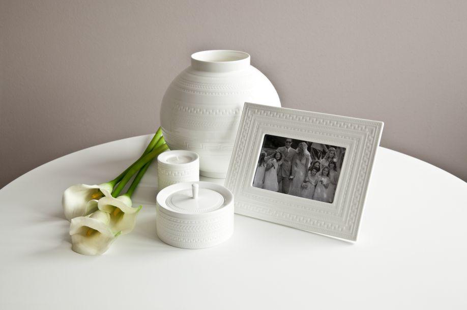 decoratie bruiloft witte fotolijst