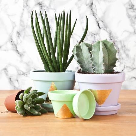 DIY plantenpotten met bladgoud preview