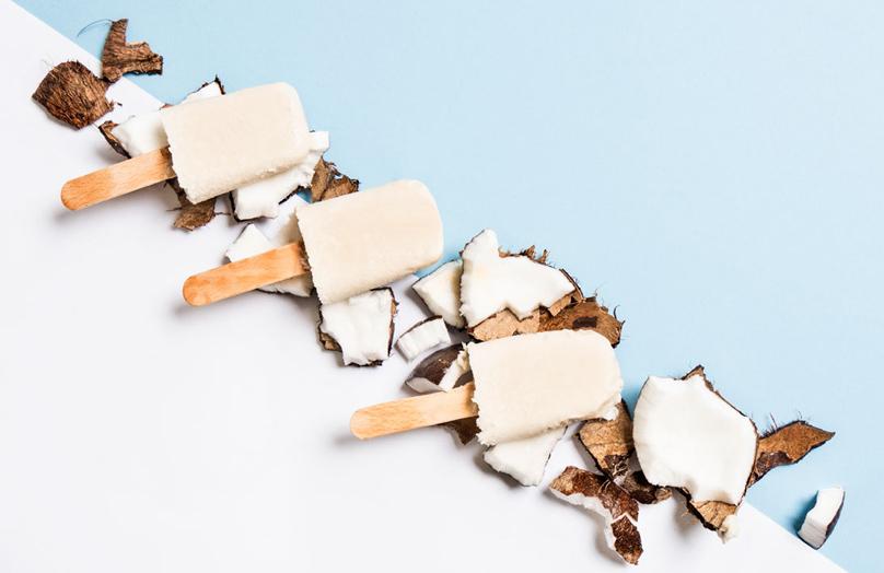 Kokos-rum ijsjes