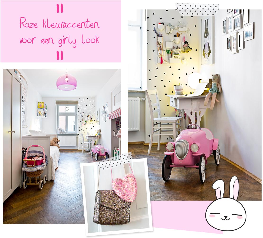 girly-slaapkamer-in-Scandinavische-stijl