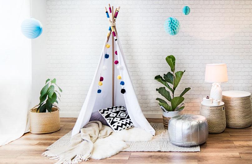 Tipi Tent Kinderkamer : Kinderkamer westwing magazine