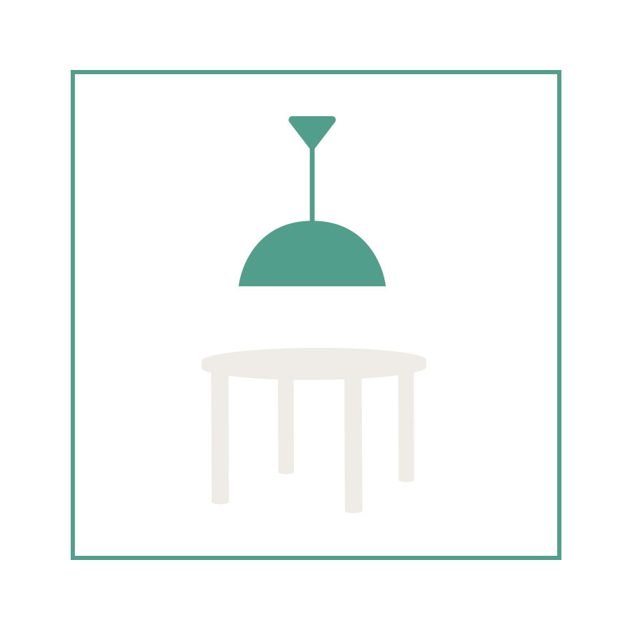 eetkamer-lampen-ronde-tafel