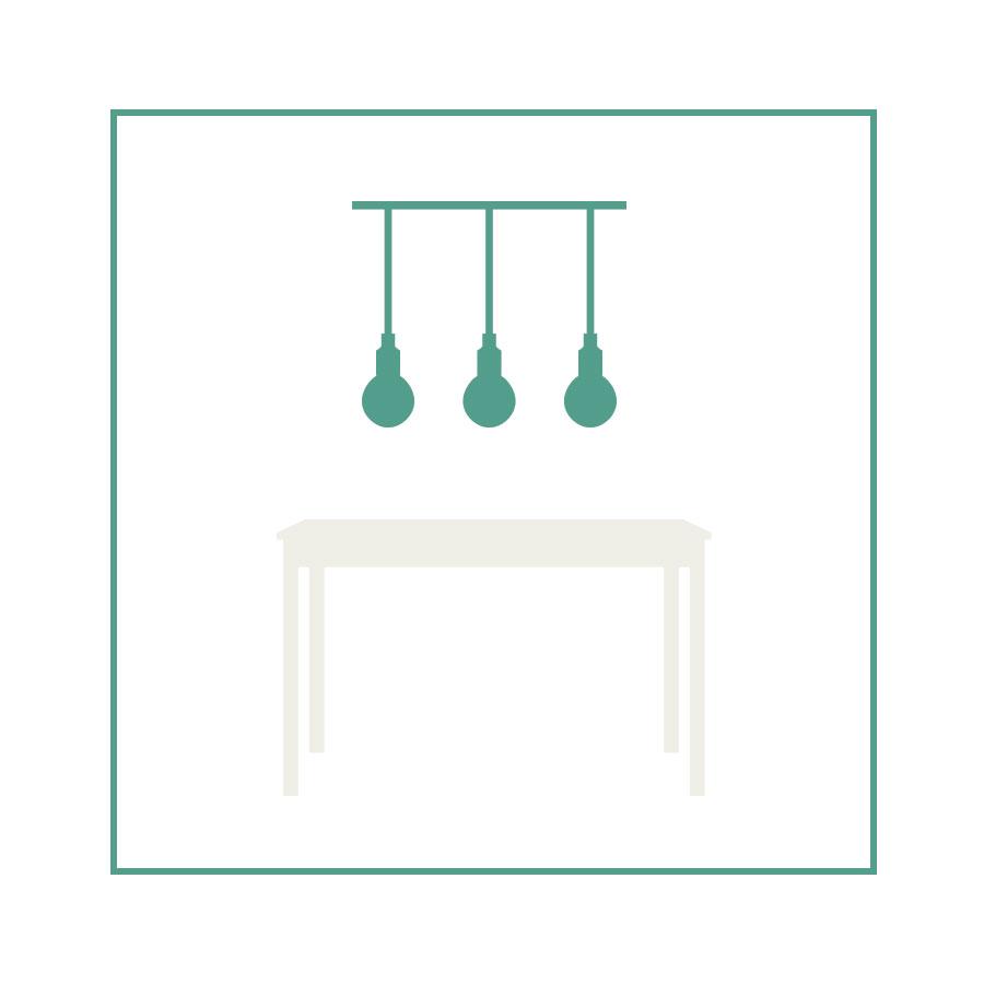 eetkamer-lampen-vierkante-tafel