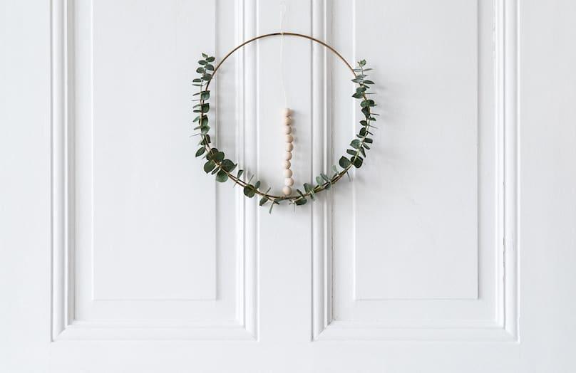 DIY Scandi kerstkrans