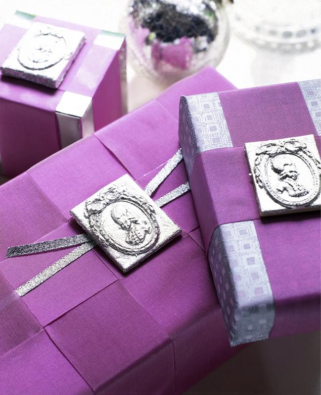 pomysły na fioletowe dekoracje świąteczne