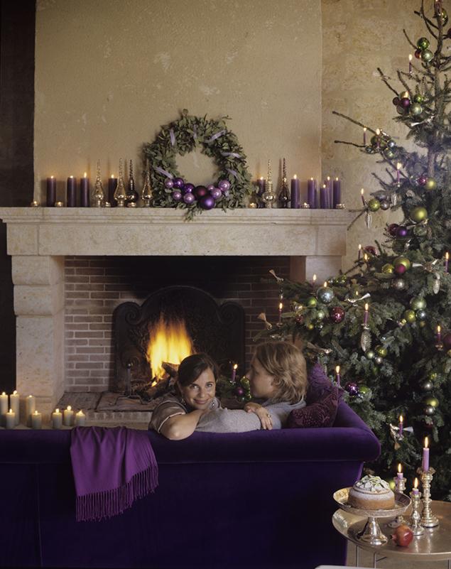 fioletowe ozdoby bożonarodzeniowe