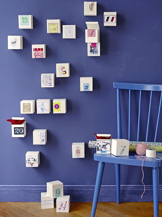 kalendarz adwentowy na ścianę