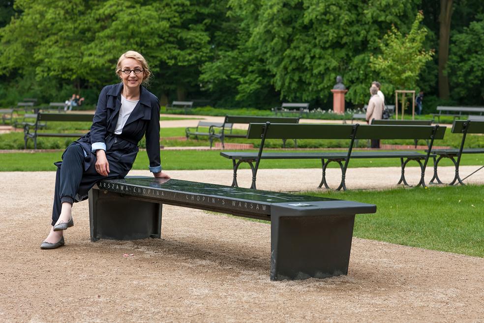 Grająca ławka z okazji 200 rocznicy urodzin kompozytora