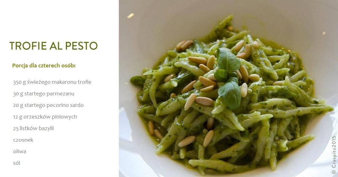 włoskie danie z makaronem trofie