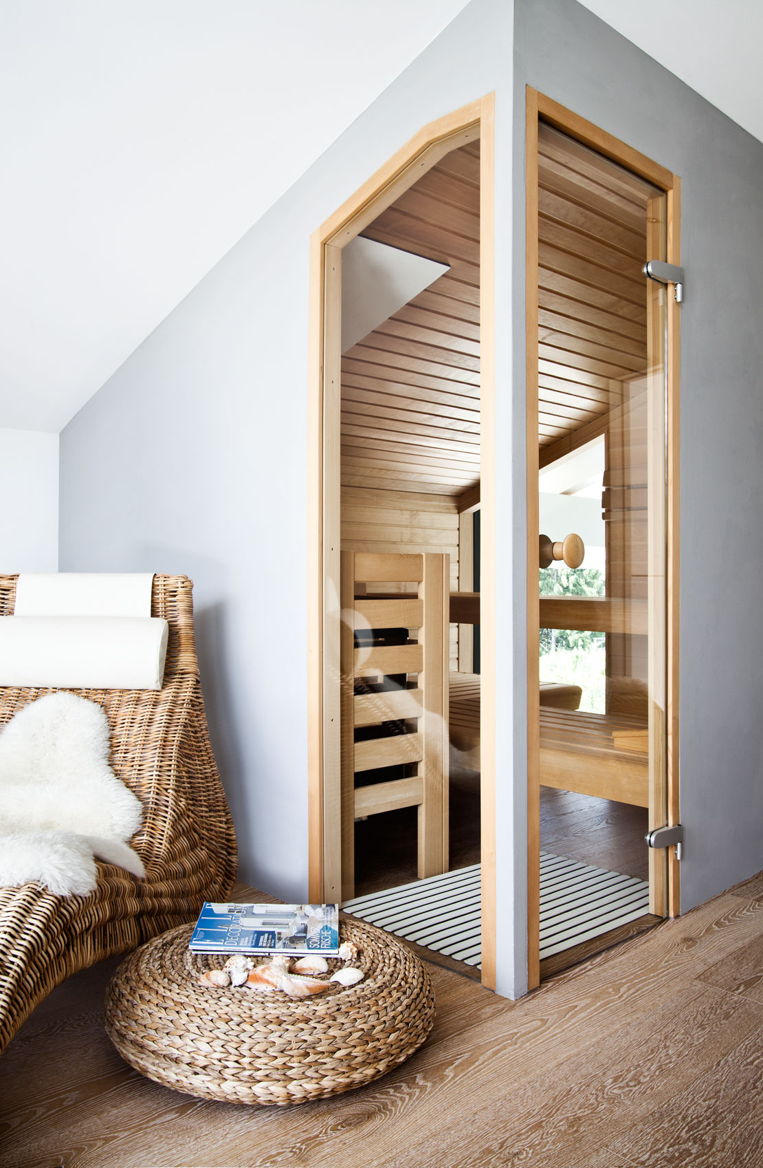 Nowoczesna sauna w domu