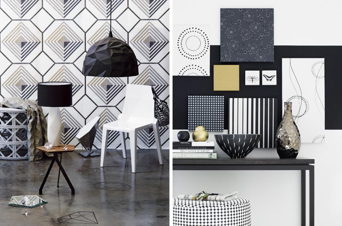 designerskie dodatki w czerni i bieli