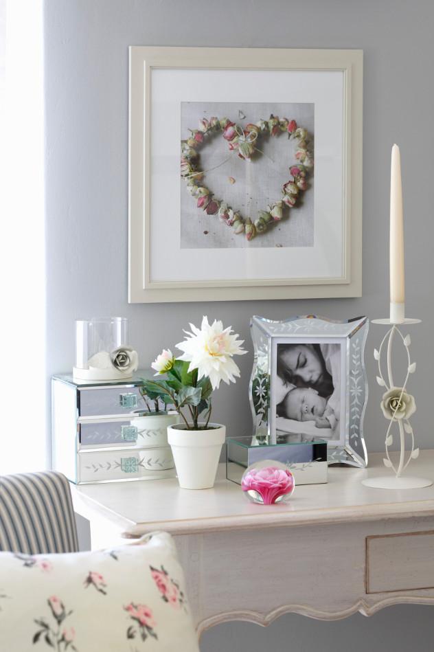 Romantyczne dodatki w domowym biurze