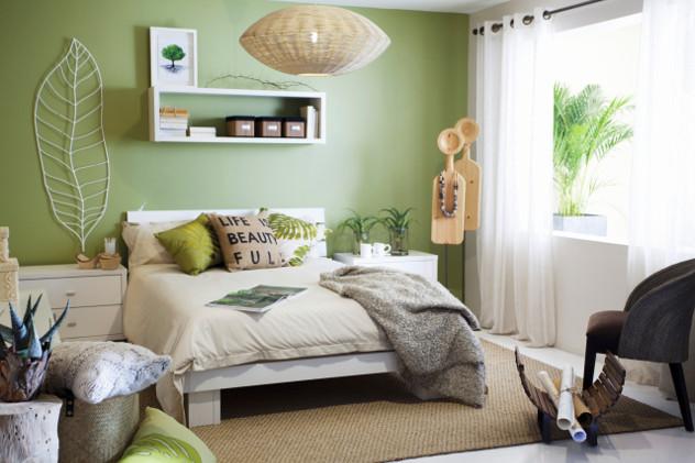 kolory ścian green