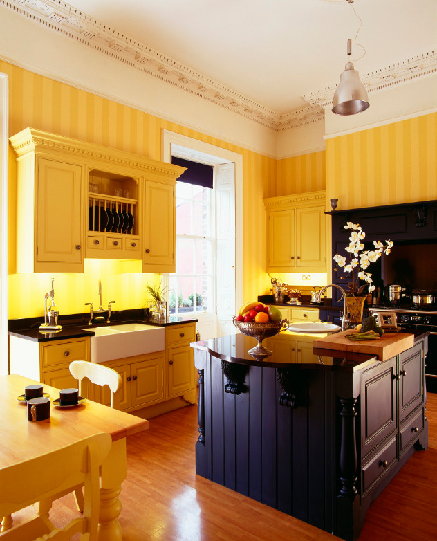 kolory ścian yellow