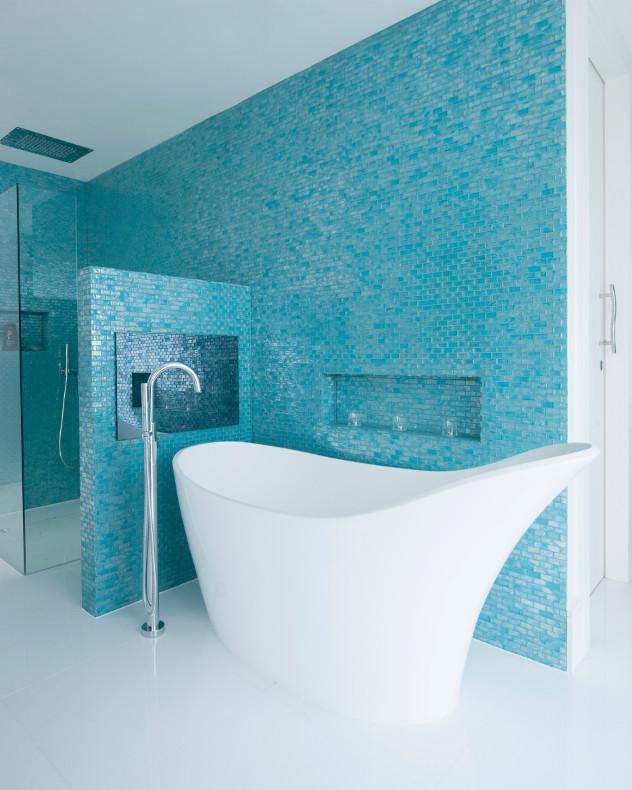kolory ścian blue