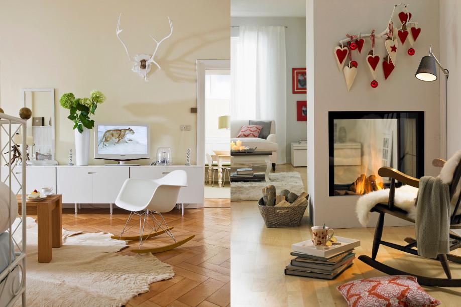 styl skandynawski, elementy stylu skandynawskiego w mniej skandynawskich wnętrzach