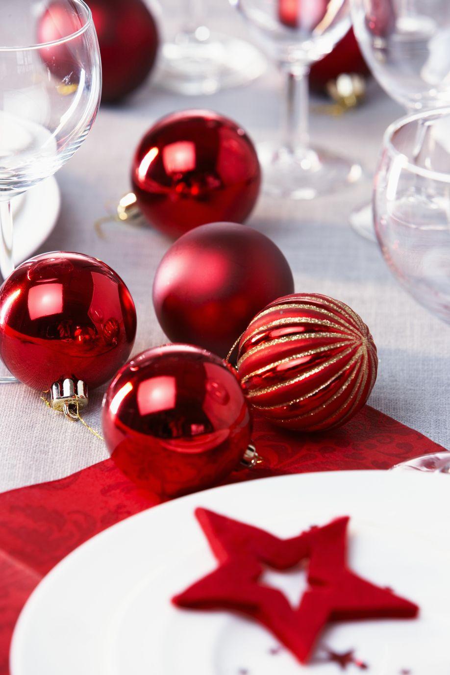 świąteczne ozdoby stół