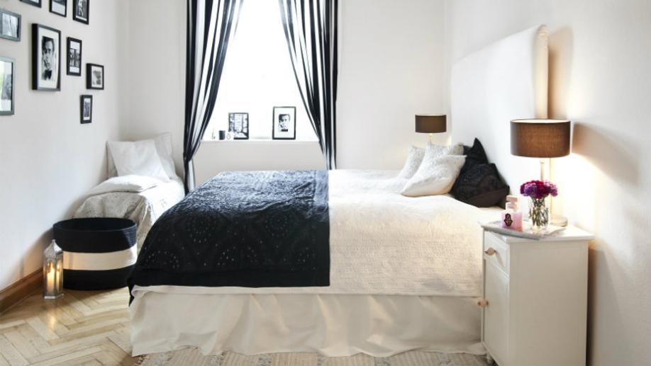 abażur w sypialni