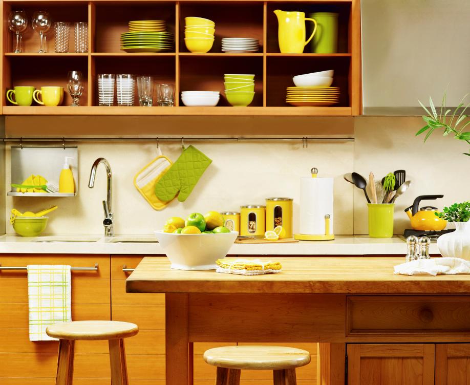 kolorowa mała kuchnia