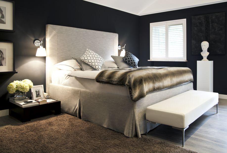 Przytulna sypialnia w stylu glamour