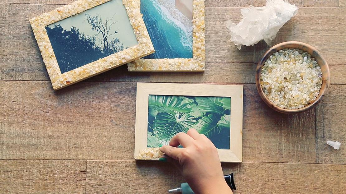 jak ozdobić ramkę na zdjęcia krok po kroku