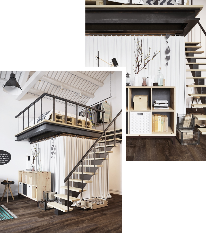 skandynawskie wnętrza sypialnia denisa krasikova