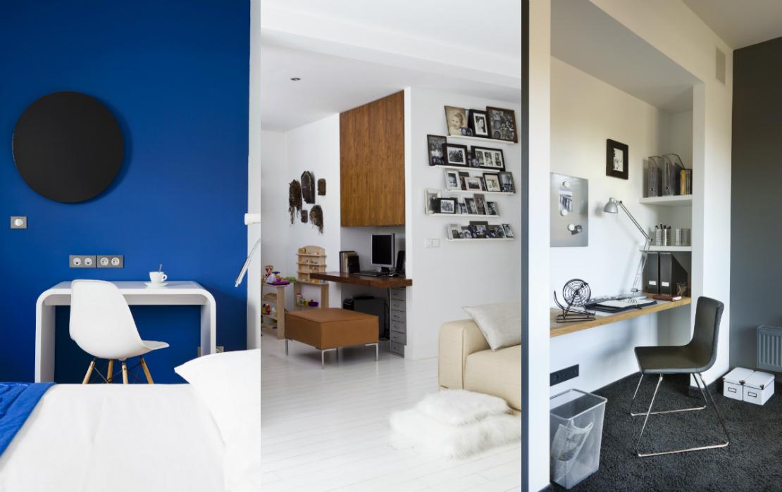 domowe-biuro-biurko-przy-scianie-collage