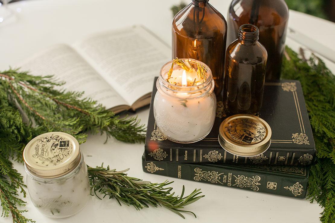 pachnące świeczki z rozmarynem krok po kroku