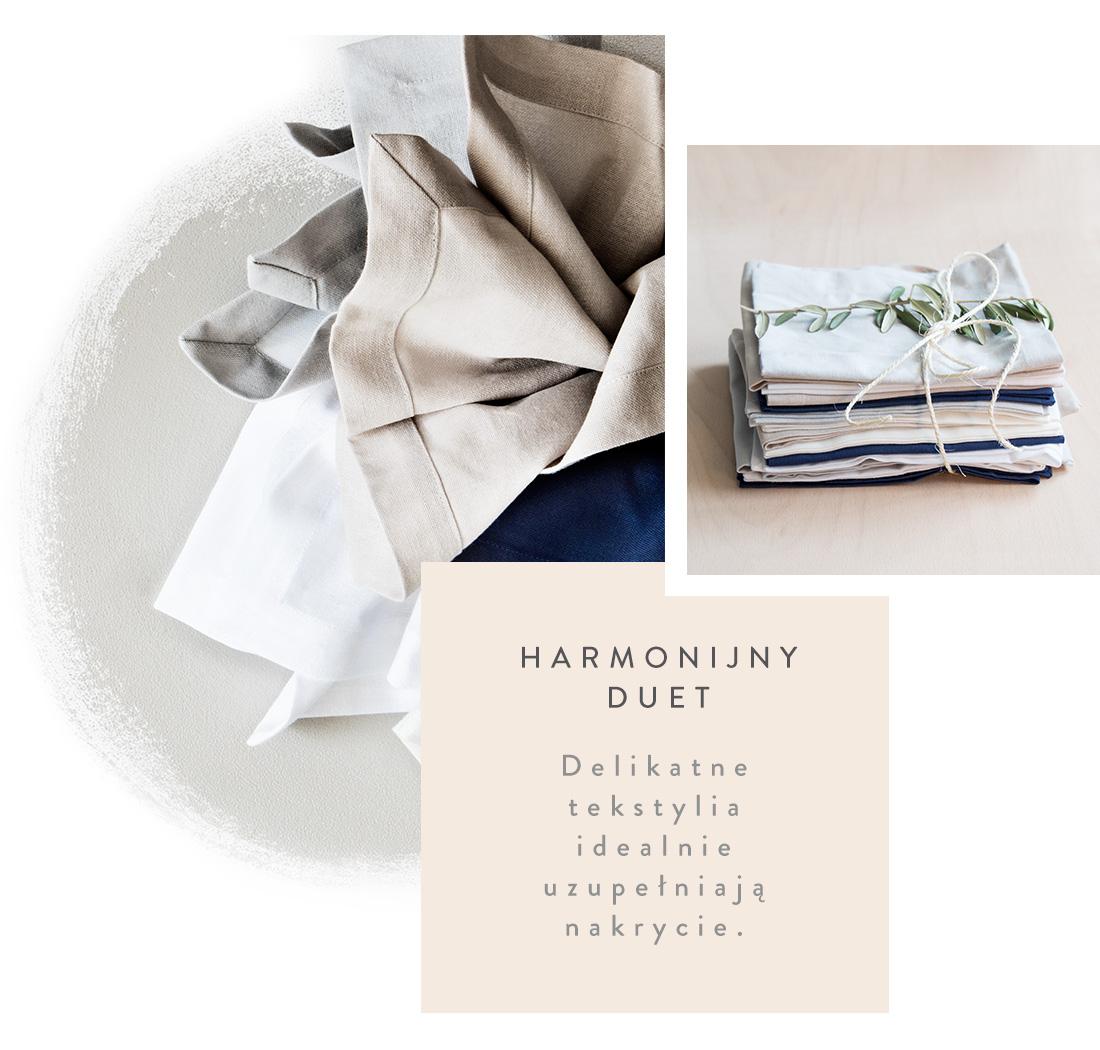 tekstylia stołowe marki Westwing