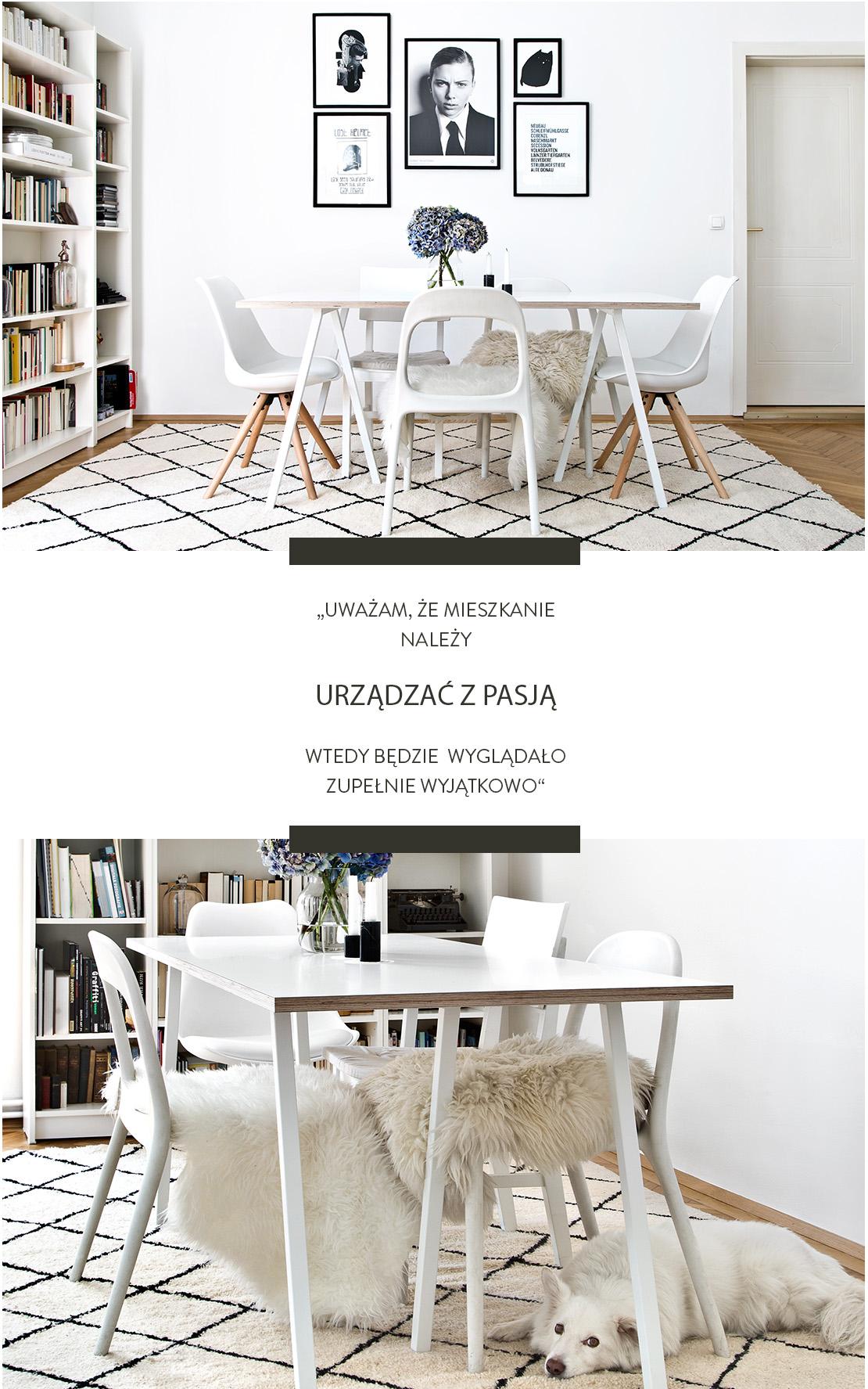 nowoczesne mieszkanie w stylu skandynawskim Wiedeń