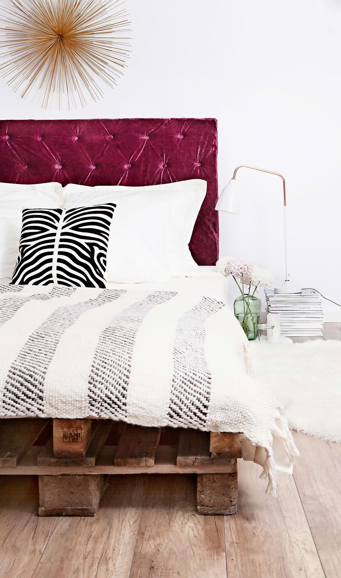 pikowany zagłówek do łóżka