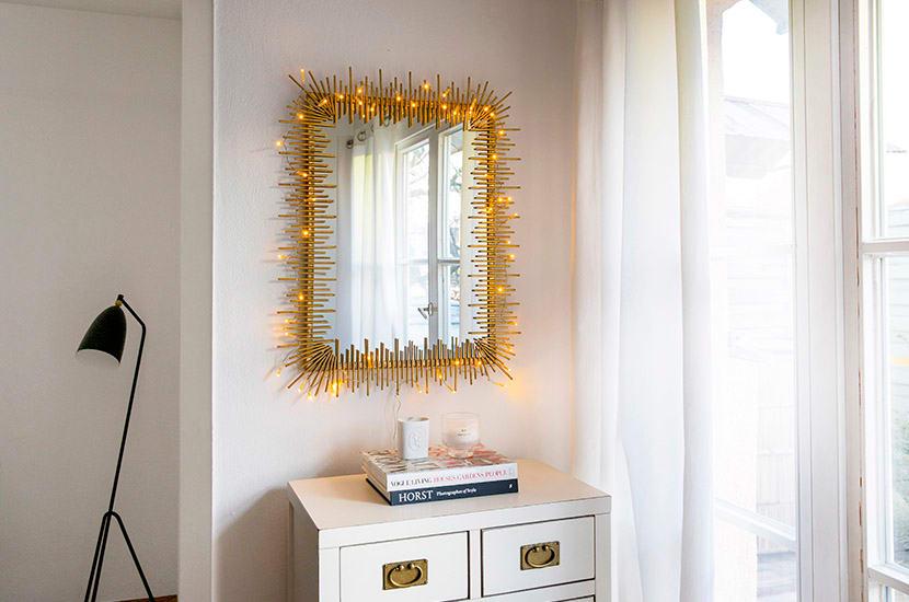 dekoracje z lampek choinkowych
