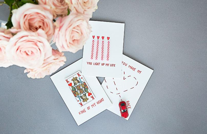 DIY: Kartki walentynkowe
