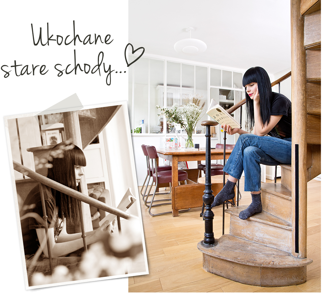 stare schody: vintage w domu