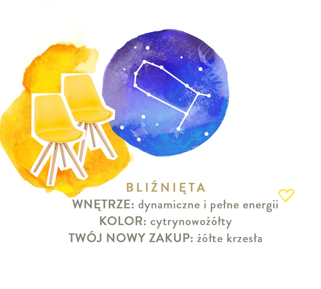 bliźnięta aranżacja zgodna ze znakiem zodiaku