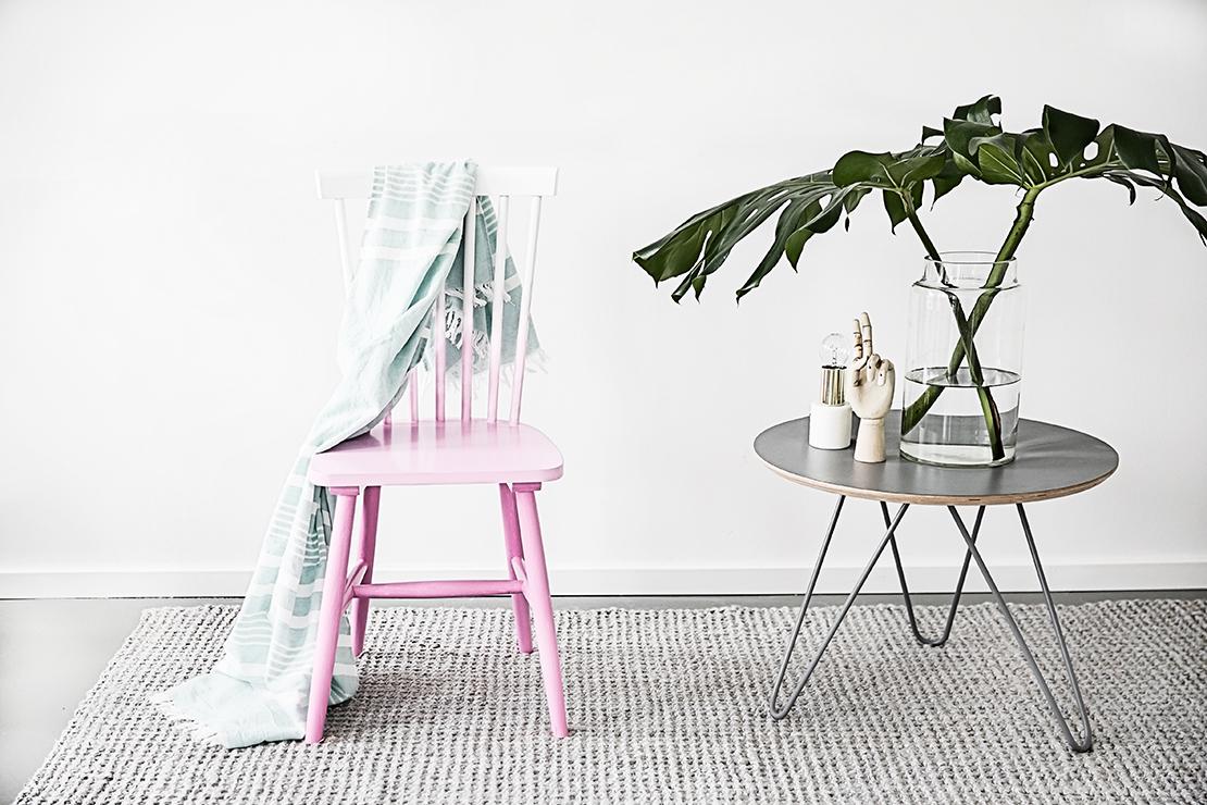 jak pomalować krzesło: ombre