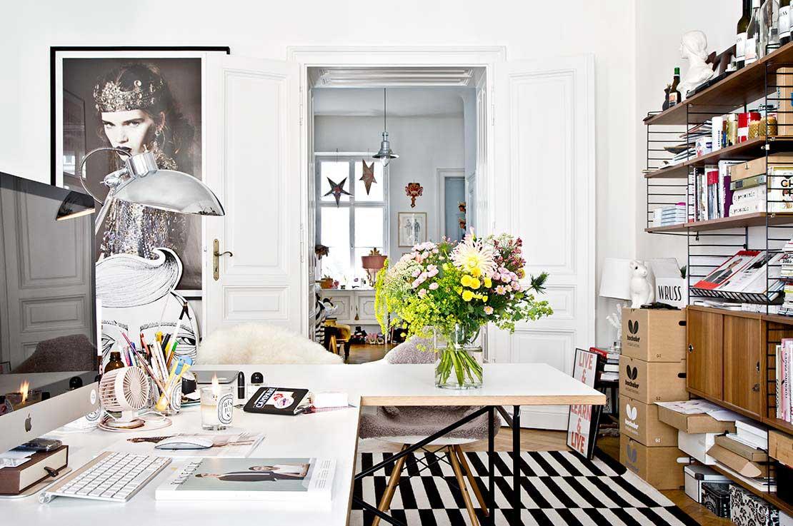 nowoczesny salon z nutą vintage