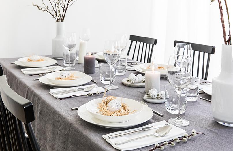 Stół na Wielkanoc w nowoczesnym stylu