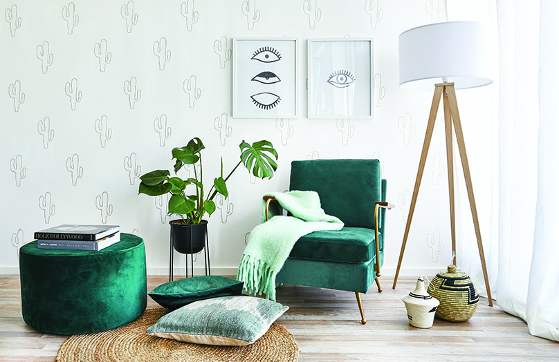 DIY Kaktusowa ściana: stwórz własną tapetę!