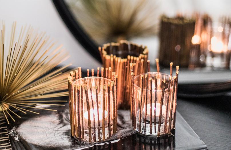 DIY jesienne świeczniki