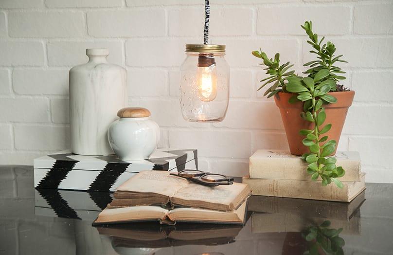 DIY Lampa w słoiku