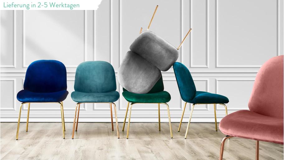 grau ist wow der perfekte samt stuhl elegante vintage. Black Bedroom Furniture Sets. Home Design Ideas