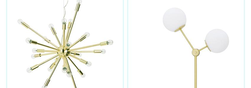 Kochamy złote lampy!